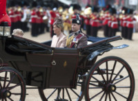 Principessa Sofia, Principe Edward - Londra - 15-06-2013 - Trooping the Colour: Kate Middleton con il plaid sulle ginocchia