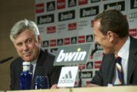 """Emilio Butragueno, Carlo Ancelotti - Madrid - 26-06-2013 - Ancelotti al Real: """"Vincere giocando un calcio spettacolare"""""""