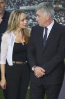 """Mariann Barrena McClay, Carlo Ancelotti - Madrid - 26-06-2013 - Ancelotti al Real: """"Vincere giocando un calcio spettacolare"""""""