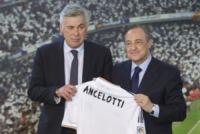 """Florentino Perez, Carlo Ancelotti - Madrid - 26-06-2013 - Ancelotti al Real: """"Vincere giocando un calcio spettacolare"""""""