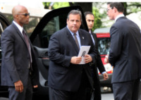 Chris Christie - New York - 27-06-2013 - I funerali di James Gandolfini a New York