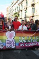Vanni Piccolo, Giuseppina Tommasielli, Luigi De Magistris - Napoli - 29-06-2013 - De Magistris e Cecchi Paone al Gay Pride di Napoli