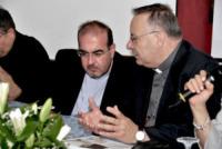 Arcivescovo Francesco Montenegro, Don Stefano Nastasi - Lampedusa - 07-07-2013 - Lampedusa: fervono i preparativi aspettando Papa Francesco