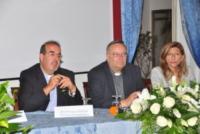 Arcivescovo Francesco Montenegro, Don Stefano Nastasi, Giusi Nicolini - Lampedusa - 07-07-2013 - Lampedusa: fervono i preparativi aspettando Papa Francesco