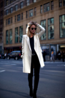 Elin Kling - New York - 14-02-2013 - Le celebrities vanno in bianco… anche d'inverno!