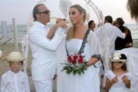 Luna Ward, Lupo Ward, Giada Desideri, Luca Ward - Fregene - 10-07-2013 -  Luca Ward e Giada Desideri si sono sposati a Fregene
