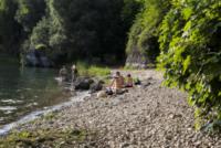 Fiume Adda Cava degli Spagnoli Capriate - Capriate - 14-07-2013 - Vacanze low cost, l'estate alternativa è in riva al fiume