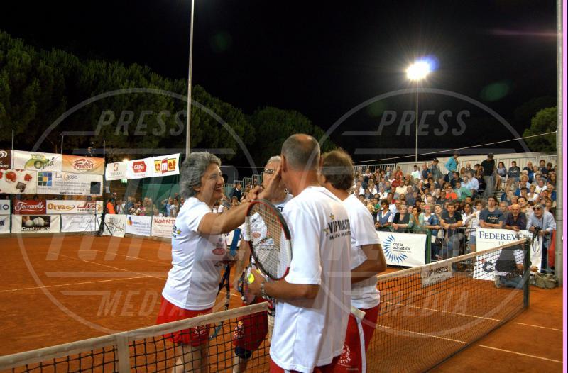 Gene Gnocchi, Paola Concia - Milano Marittima - 16-07-2013 - Gli Us Open risvegliano la passione per il tennis delle star