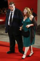 Kathleen Glynn, Michael Moore - Venezia - 06-09-2009 - Michael Moore  e Kathleen Glynn si sono detti addio