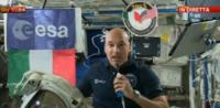 """Luca Parmitano, Enrico Letta - Roma - 19-07-2013 - Letta-Parmitano, dialogo spaziale: """"Vengo anch'io""""."""