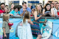 Johnny Christopher King Backus, Holden Paul Terry Backus, Mira Sorvino - Salerno - 19-07-2013 - Giffoni Film Festival: per i Sorvino un blu carpet di famiglia