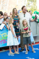 Johnny Christopher King Backus, Holden Paul Terry Backus, figli, Paul Sorvino, Mira Sorvino - Salerno - 19-07-2013 - Giffoni Film Festival: per i Sorvino un blu carpet di famiglia