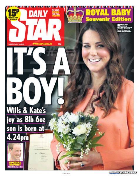 Annuncio nascita Royal Baby - 23-07-2013 - Un penny d'argento per ogni piccolo inglese nato il 22/7/2013