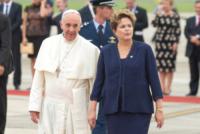 Papa Francesco, Dilma Rousseff - Rio de Janeiro - 22-07-2013 - Papa Francesco arriva in Brasile per i giovani