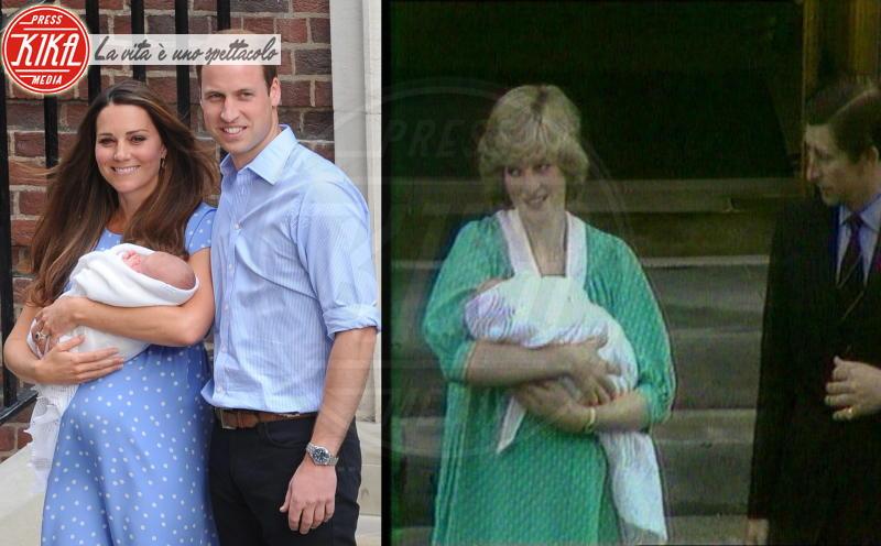 Principe George, Principe Carlo d'Inghilterra, Principe William, Kate Middleton, Lady Diana - 23-07-2013 - Kate Middleton e Lady Diana, lo stile è lo stesso
