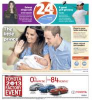 24 HRS - Londra - 24-07-2013 - La stampa mondiale rende omaggio al Piccolo Principe