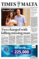 Times of Malta - Londra - 24-07-2013 - La stampa mondiale rende omaggio al Piccolo Principe