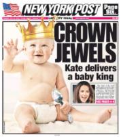 New York Post - Londra - 24-07-2013 - La stampa mondiale rende omaggio al Piccolo Principe