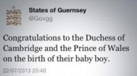Congratulazioni Guernsey - Londra - 24-07-2013 - Royal Cambridge, le congratulazioni non sono più solo su carta