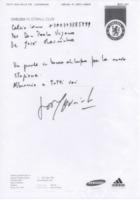 Como calcio, José Mourinho - Como - 31-07-2013 - Jose' Morinho fa gli auguri alla squadra di Como