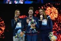 Missy Franklin, Camille Muffat, Federica Pellegrini - Barcellona - 31-07-2013 - Federica Pellegrini, medaglia d'argento e qualche rivincita