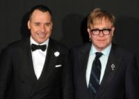 David Furnish, Elton John - Londra - 29-10-2011 - Monaco: Sir Elton John operato per appendicite