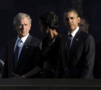Michelle Obama, George W. Bush, Barack Obama - Stati Uniti - 11-09-2011 - Stati Uniti: George W. Bush operato al cuore