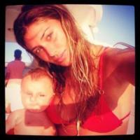 Santiago De Martino, Belen Rodriguez - Milano - 16-08-2013 - Dillo con un tweet: Selvaggia Lucarelli sceglie il lago