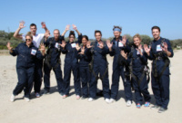 Jamie Paetz, Serinda Swan, Tiffany Brouwer, Cassie Scerbo, AnnaLynne McCord, Jimmi Simpson, Josh Henderson - Santa Barbara - 18-08-2013 - Annalynne McCord è paracadutista per beneficenza