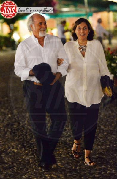 Silvia Arnaud, Antonio Ricci - Portofino - 19-08-2013 - Antonio Ricci e moglie, Striscia la cenetta