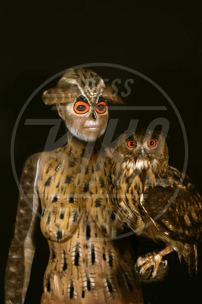 Body Painting, Owl - Innsbruck - 10-06-2010 - L'arte sul corpo: il bodypainting di Johannes Stoetter