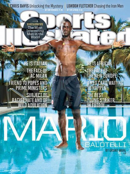 Mario Balotelli - Milano - 21-08-2013 - Mario Balotelli conquista la cover di Sport Illustrated