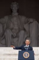 Barack Obama - Washington - 28-08-2013 - Barack Obama celebra Martin Luther King cinquant'anni dopo