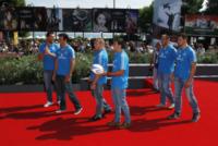 Leonardo Ghiraldini, Luke Mclean, Edoardo Gori, Alessandro Zanni, Alberto Sgarbi - Venezia - 31-08-2013 - Festival di Venezia: il red carpet diventa in un campo da rugby