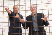 Paolo Hendel, Gianluigi Paragone - Milano - 10-09-2013 - Al via La Gabbia, il nuovo programma di Gianluigi Paragone