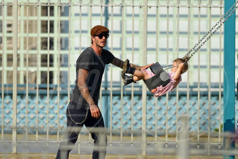 Harper Seven Beckham, David Beckham - New York - 10-09-2013 - Mammo son tanto felice, il lato paterno dei vip
