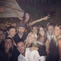 Maccio Capatonda, Federica Fontana, Elisabetta Canalis - Los Angeles - 13-09-2013 - Dillo con un tweet: la Canalis festeggia i 35 anni a Milano