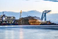 Costa Concordia - Isola del Giglio - 17-09-2013 - Costa Concordia: dopo 610 giorni la nave torna in asse