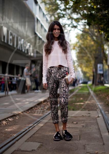 Chiara Totire - Milano - 24-09-2013 - Nostalgia della primavera? Curatela con i fiori… sui pantaloni