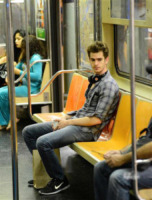 Spiderman, Andrew Garfield - New York - 27-09-2013 - Star come noi: quando il viaggio è… economico!