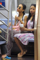 Cisely Saldana, Zoe Saldana - New York - 27-09-2013 - Lourdes Leon: la metro di New York ha la sua diva