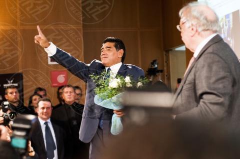"""Gianni Minà, Diego Armando Maradona - Milano - 17-10-2013 - Diego Armando Maradona: """"Sogno la panchina del Napoli"""""""