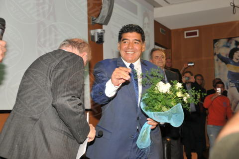 "Diego Armando Maradona, Maradona - Milano - 17-10-2013 - Diego Armando Maradona: ""Sogno la panchina del Napoli"""