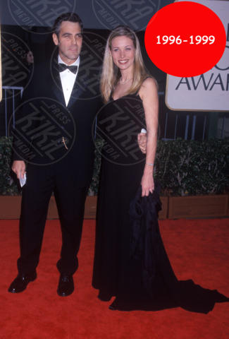 Celine Balitran, George Clooney - Hollywood - 18-01-1998 - Bomba a Hollywood: la nuova coppia si chiama Clooney-Holmes