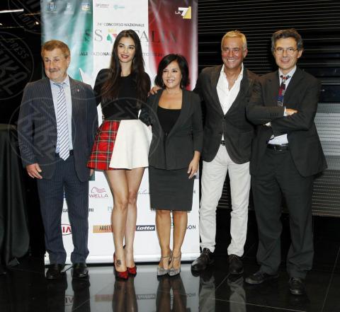 Patrizia Mirigliani, Paolo Ruffini, Francesca Chillemi, Massimo Ghini - Milano - 22-10-2013 - Miss Italia: Giusy Buscemi pronta a passare il testimone