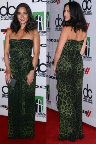 Olivia Munn - Beverly Hills - 21-10-2013 - Vade retro abito! Olivia Munn èun leopardo verde!
