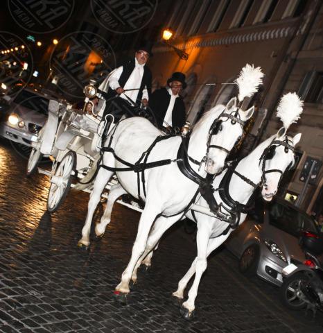 Vittoria Belvedere, Luca Ward - Roma - 22-10-2013 - Luca Ward e Vittoria Belvedere sono i principi di Roma