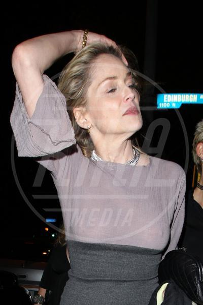 Sharon Stone - Los Angeles - 11-03-2011 - Sharon, qualche volta il reggiseno mettilo. O anche no