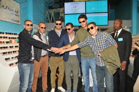 Mateo Kovacic, Samir Handanovic, Dejan Stankovic, Walter Samuel, Andrea Ranocchia - Milano - 24-10-2013 - Interisti e milanisti riuniti nel nome della moda