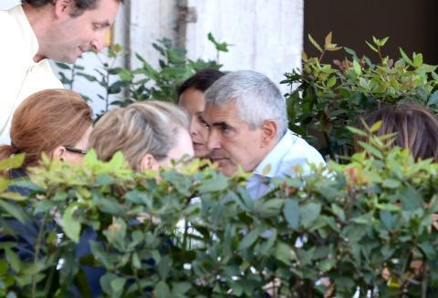 Francesco Casini, Azzurra Caltagirone, Pier Ferdinando Casini - Roma - 26-10-2013 - Pranzo in famiglia dal Bolognese per Pier Ferdinando Casini